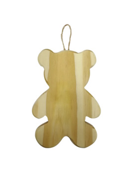 Unfinished Teddy Bear Wooden Ornament By Art Minds® by Artminds