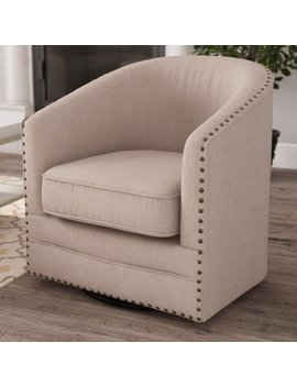 Macauley Swivel Barrel Chair by Gracie Oaks
