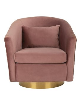 Clara Swivel Barrel Chair by Safavieh Couture