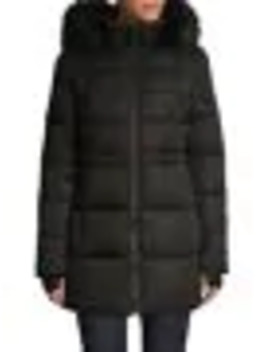 Oxford Tech Faux Fur Hooded Parka by London Fog