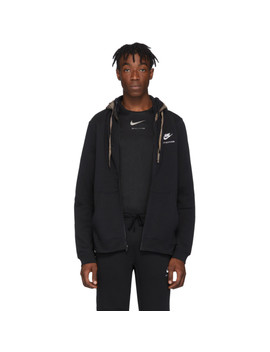 Black Nike Edition Double Hood Zip Hoodie by 1017 Alyx 9 Sm