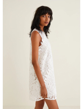 Guipure Appliqué Dress by Mango