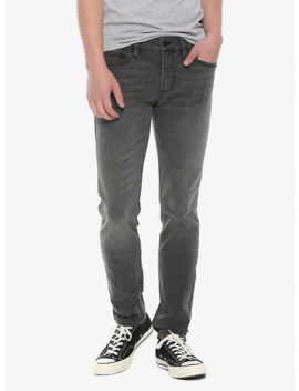 Ht Denim Grey Wash Skinny Jeans by Hot Topic