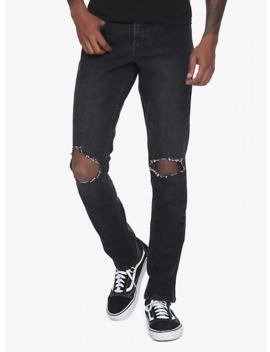 Xxx Rude 32 Inch Inseam Faded Black Ultra Destructed Skinny Jeans by Hot Topic