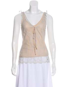 Lace Sleeveless Top by Chanel