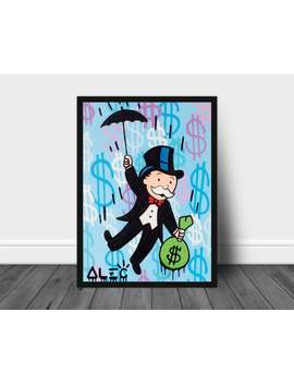 Alec Monopoly Print , Alec Monopoly Wall Art Poster Framed Decor Canvas Print by Etsy