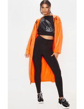 Neon Orange Maxi Hooded Windbreaker by Prettylittlething