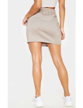 Stone Sweat Drawstring Waist Mini Skirt by Prettylittlething