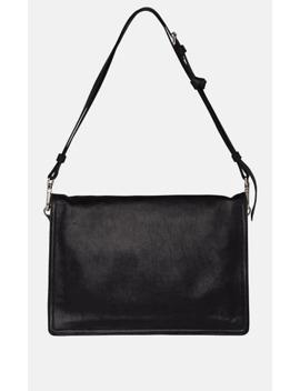 Etiquette Medium Leather Messenger Bag by Prada