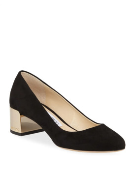 Jessie Suede Slip On Pumps by Jimmy Choo