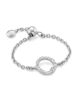 Riva Mini Circle Adjustable Friendship Diamond Ring by Monica Vinader