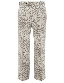 Abstract Print Wool Trousers by Needles