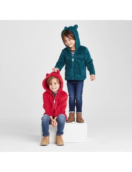 Toddler Sherpa Lined Zip Up Hoodie   Cat & Jack™ by Cat & Jack