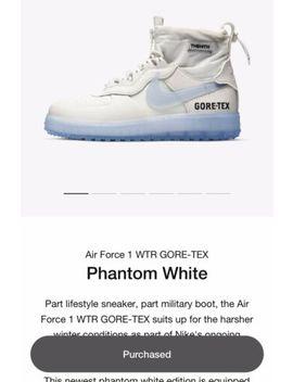Nike Air Force 1 Wtr Gtx Winter Gore Tex Phantom White Mens Shoes Size 10.5 Mens by Nike