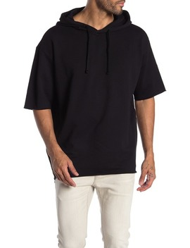 Dalmond Short Sleeve Pullover Hoodie by Boss