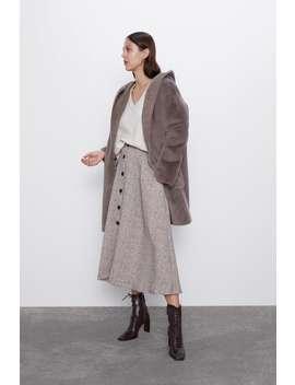 Button Up Herringbone Skirt View All Skirts by Zara