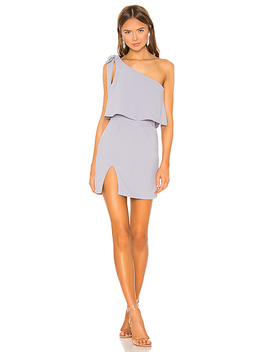 Jenna One Shoulder Dress In Grey by Superdown
