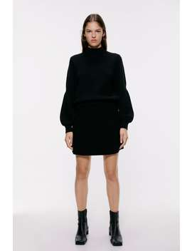 High Neck Sweater View All Skirts by Zara