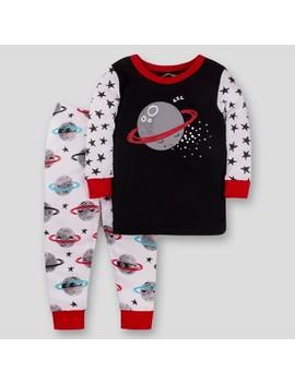 Lamaze Baby Organic Cotton Moon & Stars Pajama Set   Black/White by Lamaze