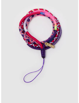 Vicky Multi Coloured Phone Case Strap by ‎Le Pom Pom‎