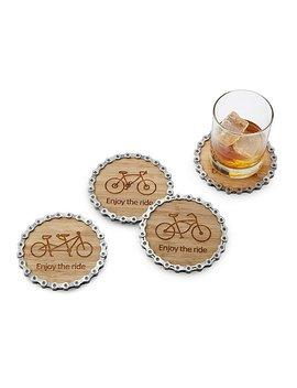 Enjoy The Ride Bike Chain Coaster Set by Graham Bergh