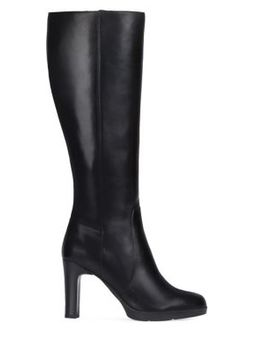 Annya Leather Tall Boots by Geox