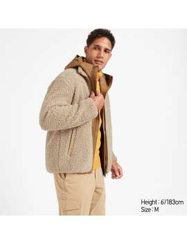 Pile Lined Fleece Jacket by Uniqlo