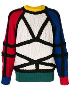 Geometric Knit Jumper by Charles Jeffrey Loverboy