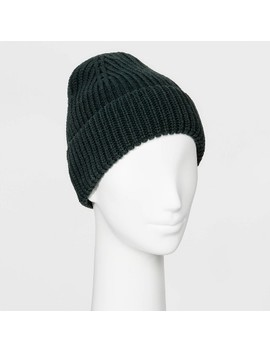 Women's Shaker Stitch Knit Cuff Beanie   A New Day™ One Size by A New Day