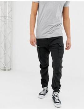 Jack &Amp; Jones Slim Fit Cargo Trousers In Black by Jack & Jones