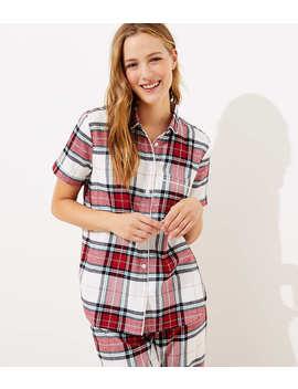 Plaid Pajama Top by Loft
