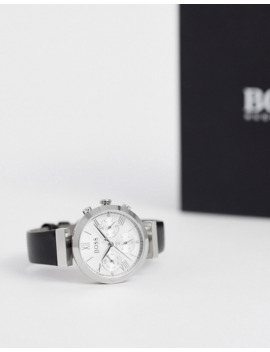 Boss Classic Sports Womens Leather Watch In Black by Boss