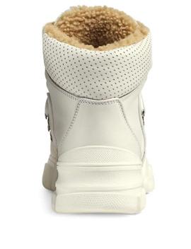 Women's Flashtrek Suede &Amp; Tech Canvas Hiker Boots by Gucci