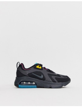 Nike Black And Teal Air Max 200 Sneakers by Nike