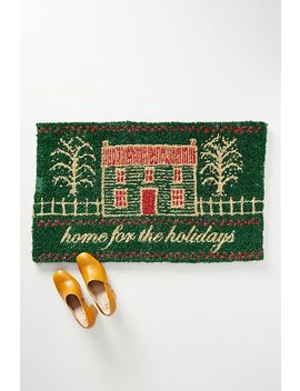 Home For The Holidays Doormat by Anthropologie