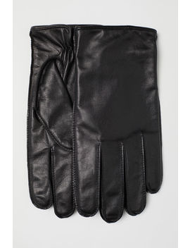 Leather Gloves Smartphone by H&M