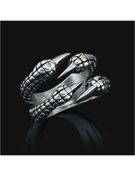 Stainless Steel Gothic Jewelry Dragon 4 Claw Ring Punk Goth Eagle Demon Metal Ss by Unbranded