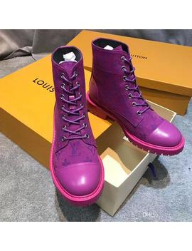 Fashion Flat Boots Women High Quality Waterproof Patent Leather Motorcycle Boots Lace Up Martin Boots Cool Shoes Size 35 41 by D Hgate.Com