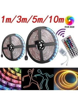 Rgb Smd 3528 Led Light With 1 M 3 M 5 M 10 M Flexible Belt +44 Key Infrared Remote Control For Home / Wedding Decoration Lighting by Wish
