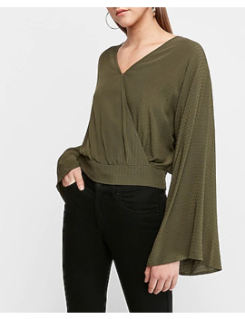 Bell Sleeve Wrap Front Top by Express