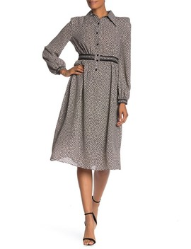 Patterned Woven Midi Dress by Max Studio