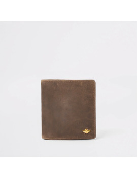 Light Brown Leather Fold Out Wallet by River Island