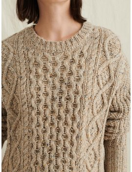 Side Button Donegal Sweater by Alex Mill