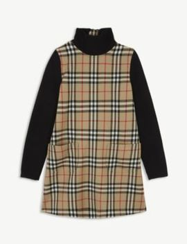 Adeline Check A Line Dress 4 14 Years by Burberry