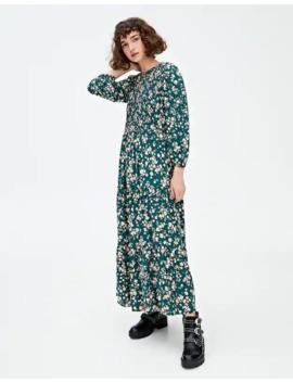 Długa Sukienka Z Gumką by Pull & Bear