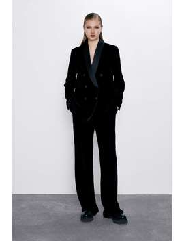 Fluwelen Smokingblazer by Zara