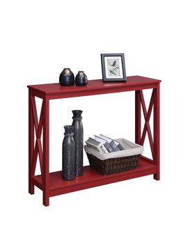 Convenience Concepts Oxford Console Table, Cranberry Red by Convenience Concepts