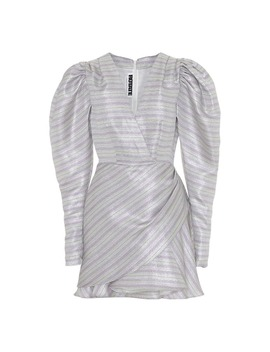 Wrap Effect Layered Metallic Mini Dress by Rotate