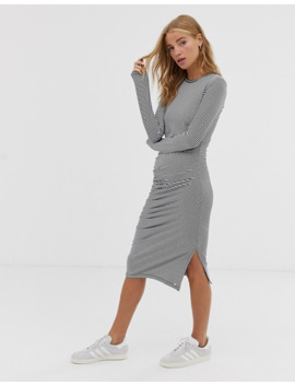 Superdry Ruched Long Sleeve Midi Dress by Superdry