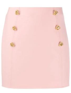 Slim Fit Button Embellished Skirt by Elisabetta Franchi